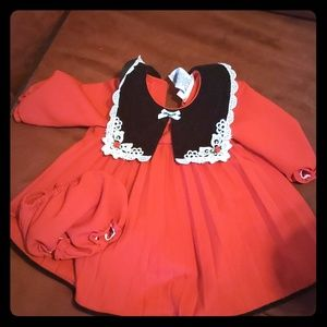 Pleated dress with
